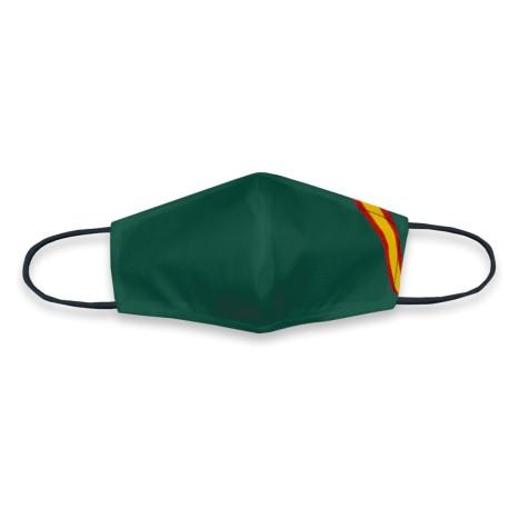 Mascarilla Verde TNT Bandera España Reutilizable y Lavable