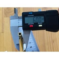 Tubo latón para pasacabos Ø 6 mm
