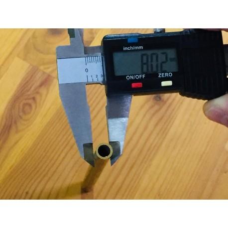 Tubo latón para pasacabos Ø 8 mm