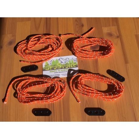 Vientos de Alta Visibilidad en color Naranja
