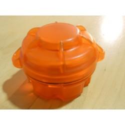Contenedor Portapilas CR123A Naranja