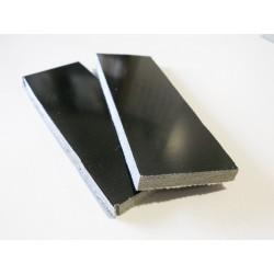 Micarta Negra Canvas (2 placas)