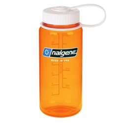 Botella Nalgene Boca Ancha 0,5 Litros Naranja