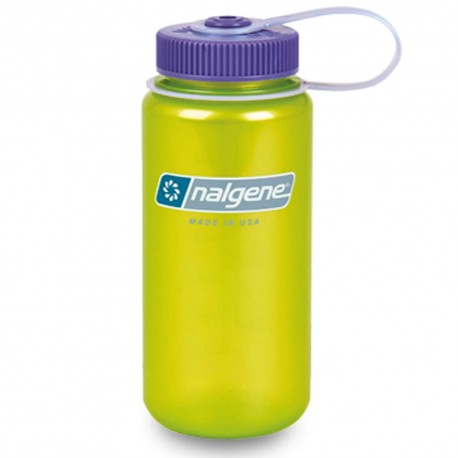 Botella Nalgene Boca Ancha 1 Litro Lima Translucido