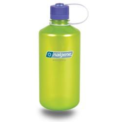 Botella Nalgene Boca Estrecha 1 Litro Lima Translucida