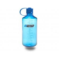 Botella Nalgene Boca Estrecha 1 Litro Azul / Tapón Azul