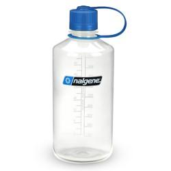 Botella Nalgene Boca Estrecha 1 Litro Transparente / Tapón Azul