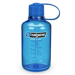 Botella Nalgene Boca Estrecha 0,5 Litros Azul Tapón Azul