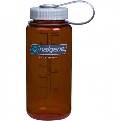 Botella Nalgene Boca Ancha 0,5L Cobre Tapón Gris