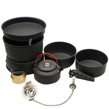 Kit Gelert Phoenix Cook Set + Adaptador de Gas