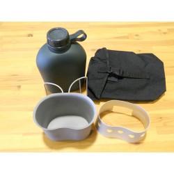 Pack Hidratación Mil-Tec + Cocina Negro