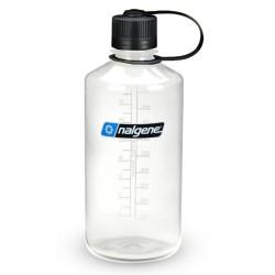 Botella Nalgene Boca Estrecha 1 Litro Transparente Tapón Negro