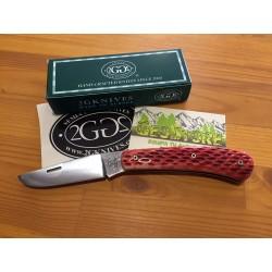 2G Semi-Custom Edi. Limitada Böhler N690Co Jigged Bone Rojo