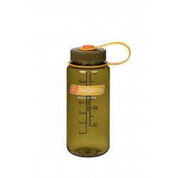Botella Nalgene Boca Ancha 0,5 Litros Olive Tapón Olive