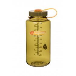 Botella  Nalgene Boca Ancha 1 Litro Olive Tapón Olive