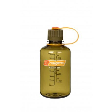 Botella Nalgene Boca Estrecha 0,5 Litros Olive Tapón Olive