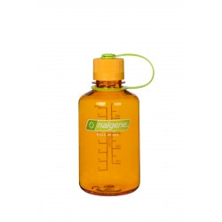 Botella Nalgene Boca Estrecha 0,5 Litros Mandarina Tapón Mandarina