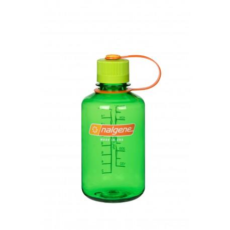 Botella Nalgene Boca Estrecha 0,5 Litros Verde Tapón Verde
