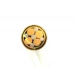 Pin Mosaico Latón Plateado Ø 6 mm