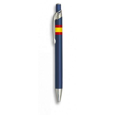 Bolígrafo aluminio color azul Bandera España